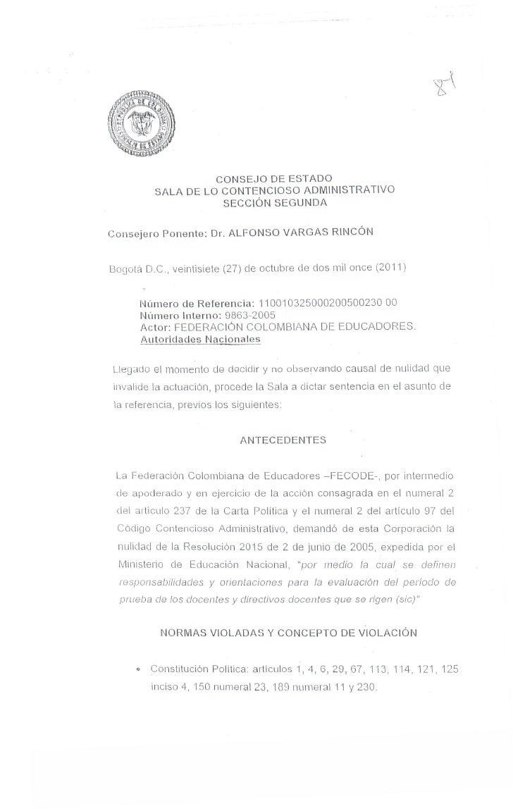 CONSEJO          DE ESTADO                SALA DE LO CONTENCIOSO ADMINISTRATIVO                           SECCiÓN SEGUNDAC...