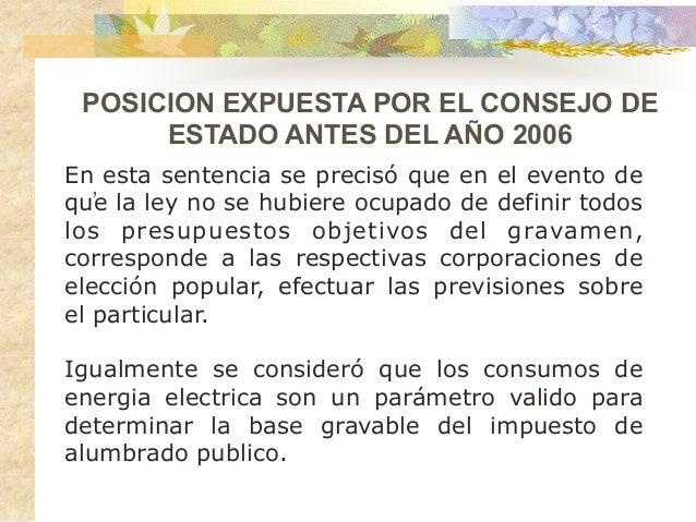 Sentencias consejo de estado Alumbrado Público - Bibiana ...