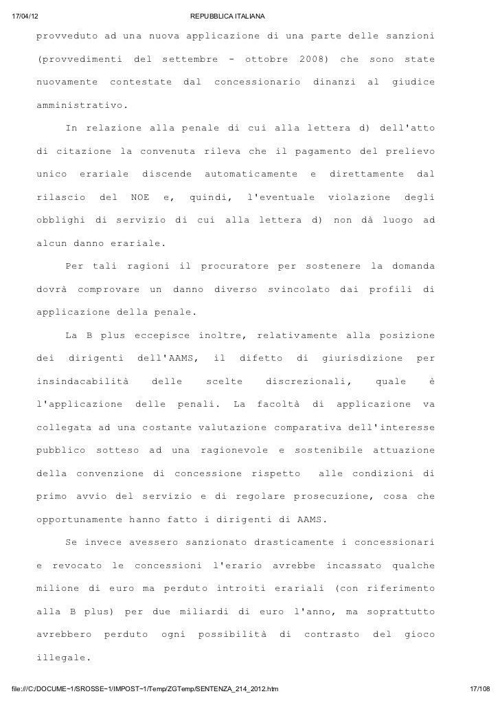 17/04/12                                       REPUBBLICA ITALIANA       povdt a uanoaapiain d uapredlesnin       rveuo d ...