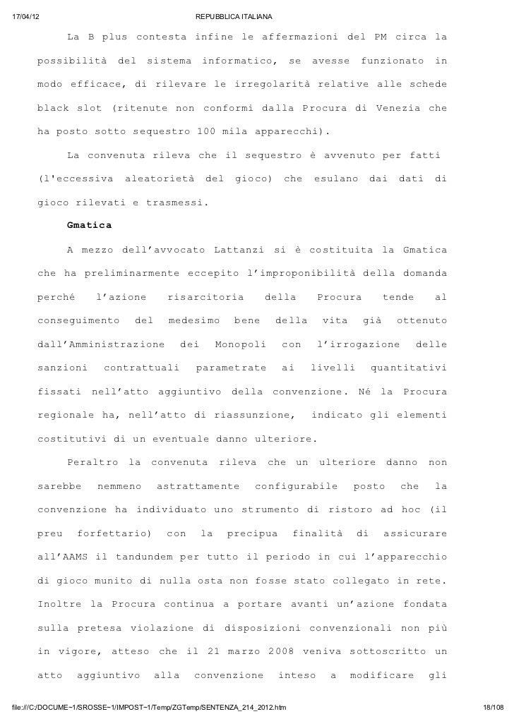 17/04/12                                       REPUBBLICA ITALIANA              L B pu cnet ifn l afrain dl P cra l       ...
