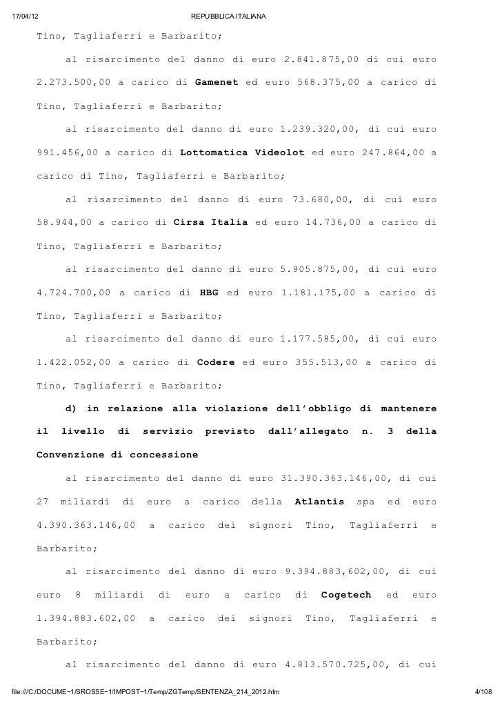 17/04/12                                       REPUBBLICA ITALIANA       Tn,TgifrieBraio       io alaer   abrt;           ...