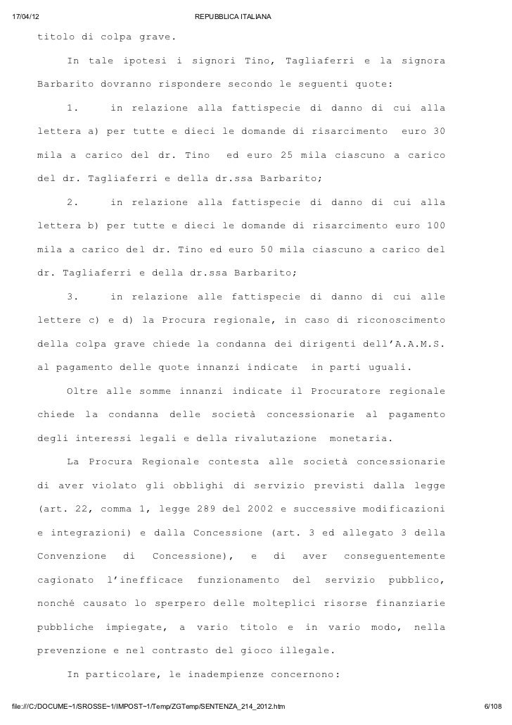 17/04/12                                       REPUBBLICA ITALIANA       ttl d clagae       ioo i op rv.              I tl...
