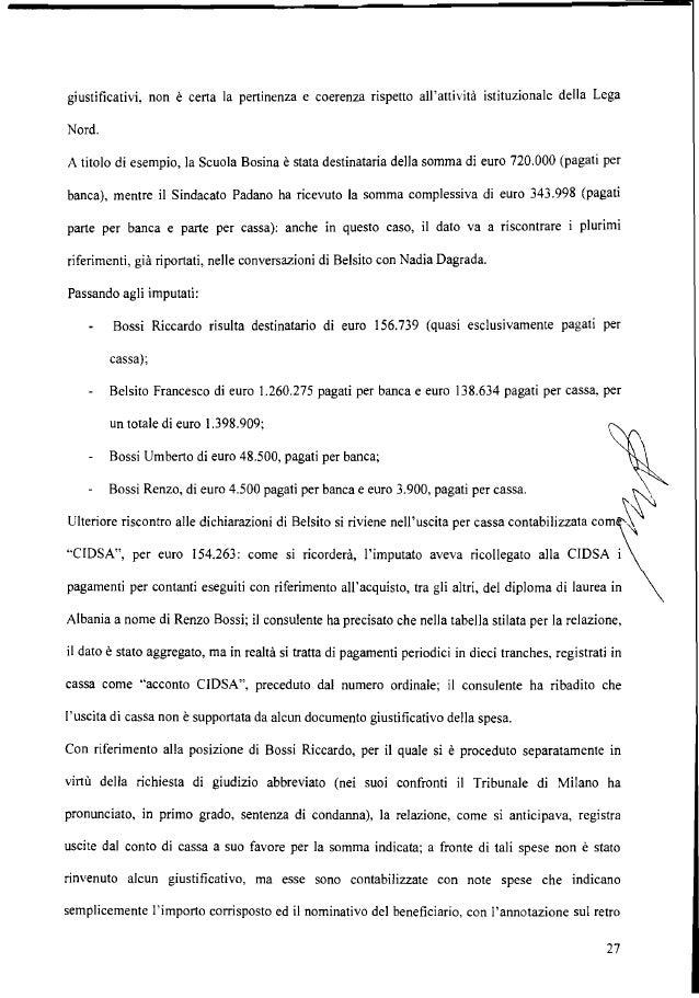 Lega, sentenza del Tribunale di Milano