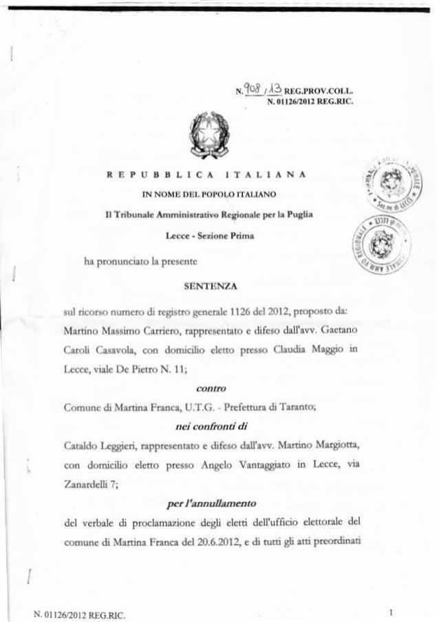 r.tlllq nrc.rrovcor,uN. 0l 11620l1 nDcrrc,ÀEPÙÉBLICA IAALIANAll libun G 1lmhi.idoriù Rcgioo.l. F. L Pdi.Iic.. - S.ton. Pdm...