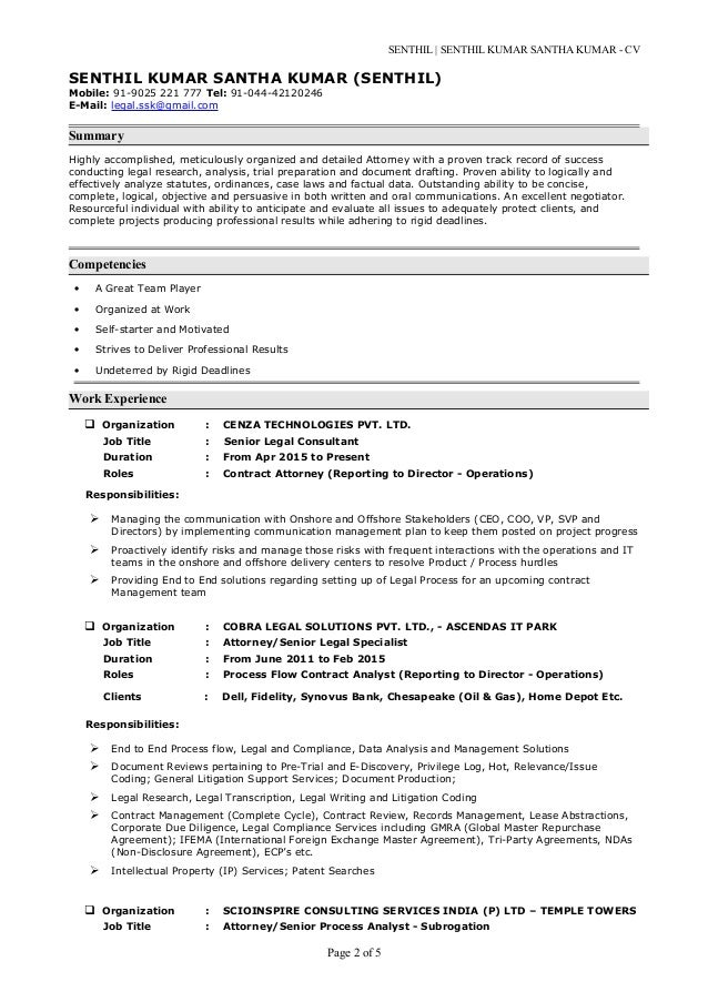 Senthil kumar s cv with cover letter – Intellectual Property Cover Letter
