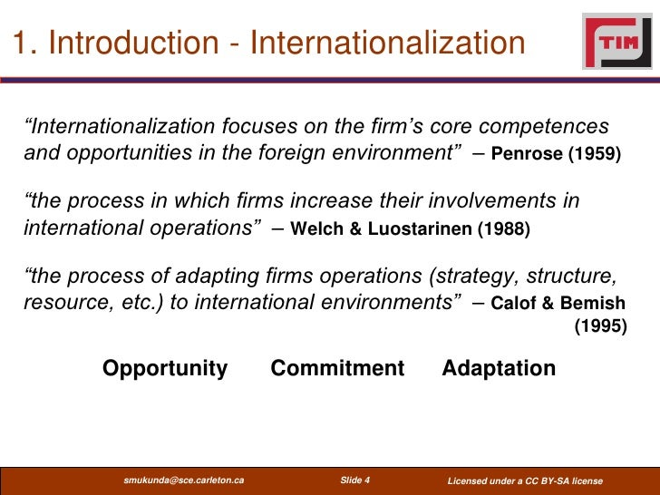 internationalization steps and process objectives The objectives of this study are to develop a model that operationalizes the internationalization process of construction firms and to derive strategy implications.