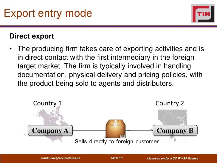 indirect exporting companies