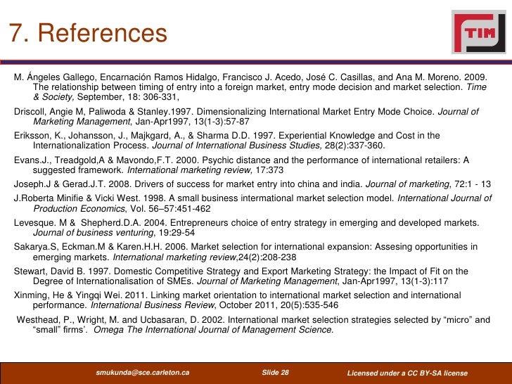 7. ReferencesM. Ángeles Gallego, Encarnación Ramos Hidalgo, Francisco J. Acedo, José C. Casillas, and Ana M. Moreno. 2009....
