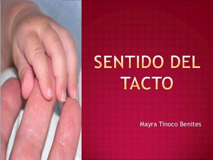 SENTIDO DEL TACTO<br />Mayra Tinoco Benites<br />