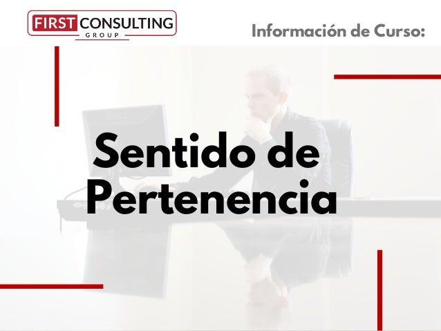Sentido de Pertenencia Información de Curso: