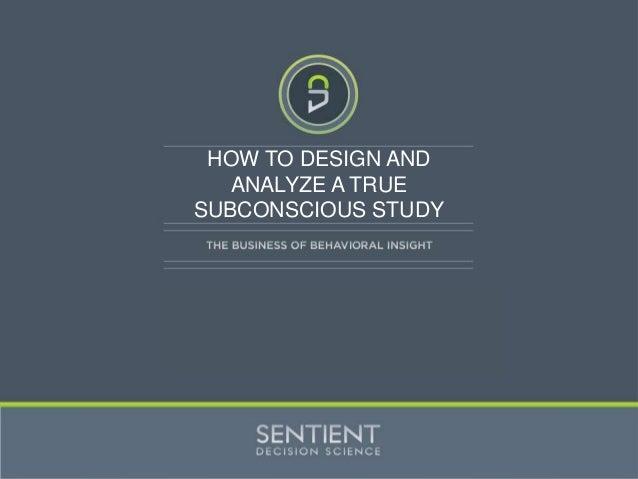 Sentient Subconscious Workshop IIEX
