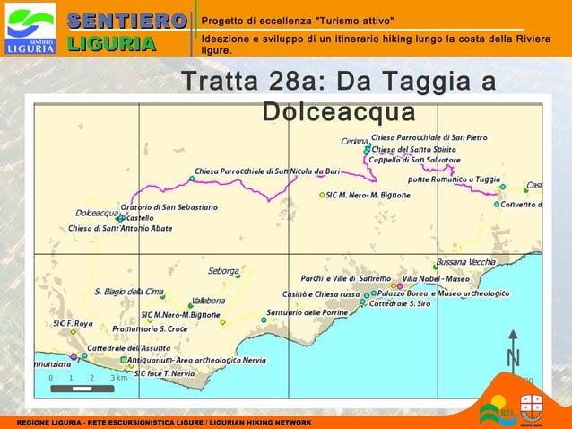 """SENTIERO LIGURIA  Progetto di eccellenza """"Turismo attivo"""" Ideazione e sviluppo di un itinerario hiking lungo la costa dell..."""
