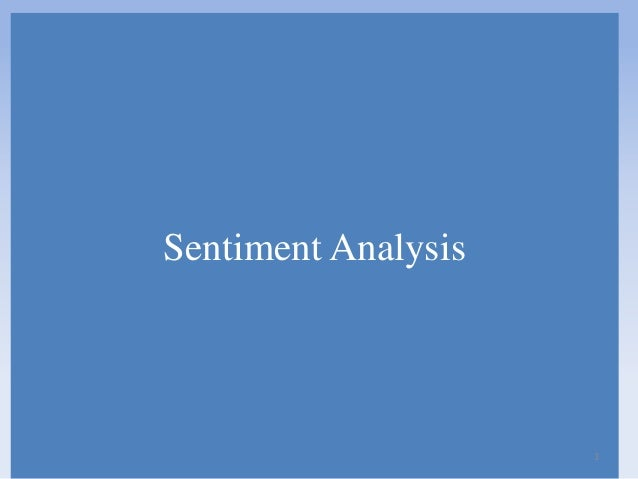Sentiment Analysis  1