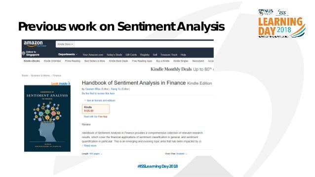 NUS-ISS Learning Day 2018- Sentiment analysis in finance