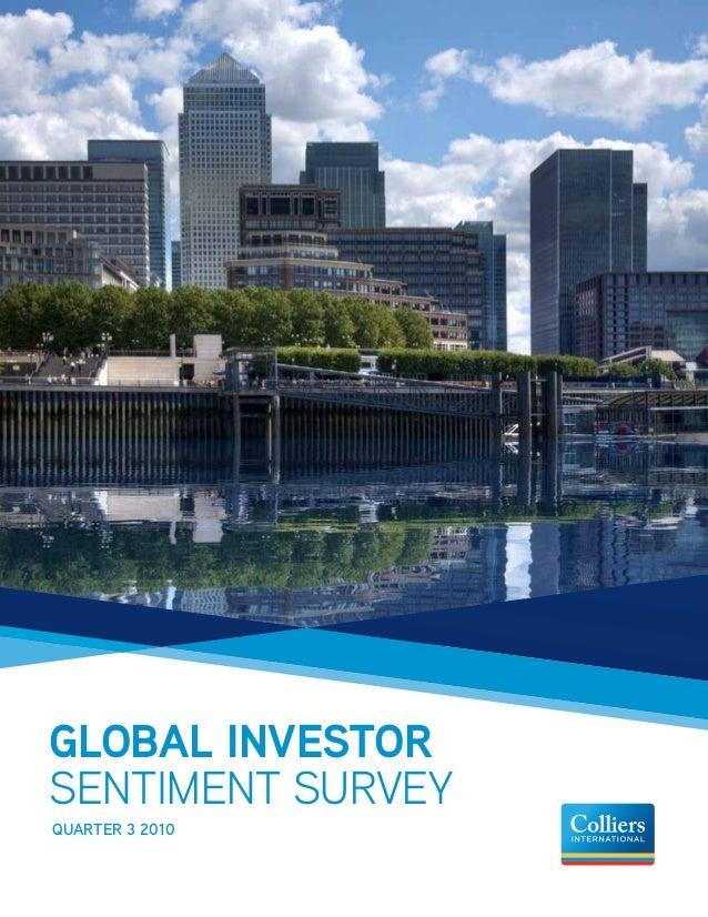 GLOBAL INVESTOR SENTIMENT SURVEY Quarter 3 2010