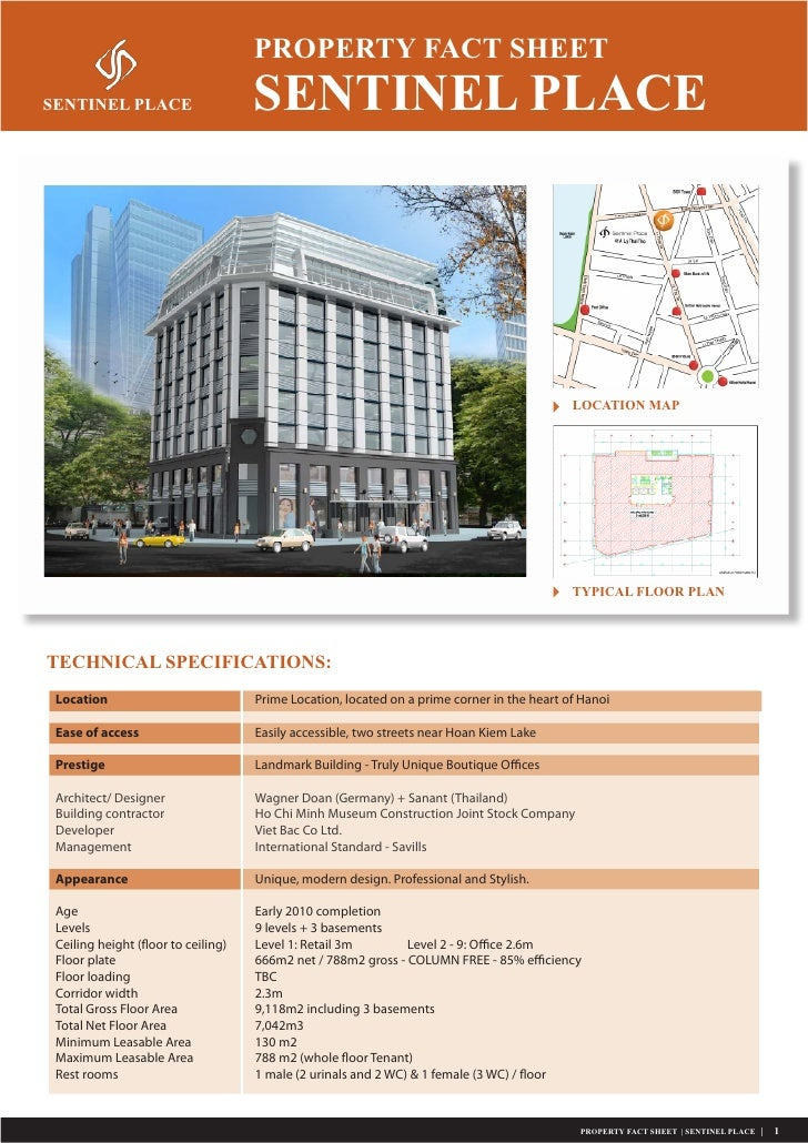 PROPERTY FACT SHEET SENTINEL PLACE                       SENTINEL PLACE                                                   ...