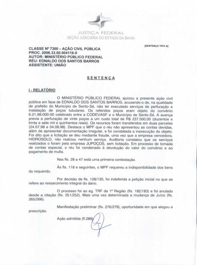 JUSTIÇA FEDERAL                       SEÇÃO JUDICIÁRIA DO ESTADO DA BAHIA                                                 ...