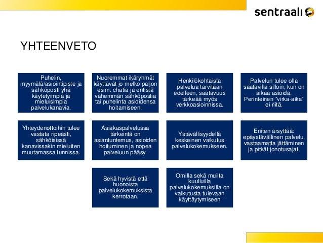 Millaista asiakaspalvelua suomalaiset odottavat ja millaisia kokemuksia heillä on? Asiakaspalvelututkimus 2015, Sentraali Slide 3