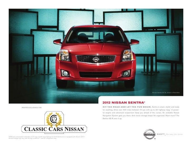Nissan Sentra 2.0 SL Shown In Red Alert.
