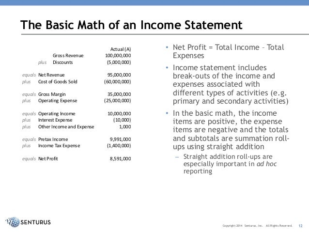 Income Statement Reporting Challenges With Bi Tools: Helping It And F…