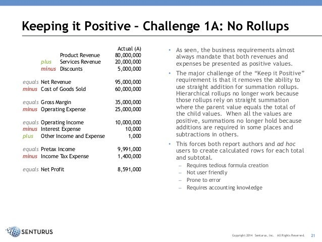 revenue and expense report