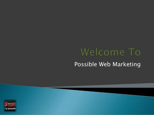 Possible Web Marketing