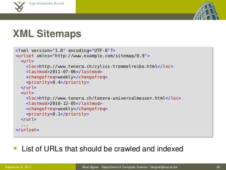 "XML Sitemaps      <?xml version=""1.0"" encoding=""UTF-8""?>      <urlset xmlns=""http://www.example.com/sitemap/0.9"">        <..."