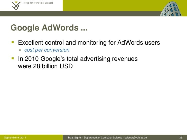 Google AdWords ...      Excellent control and monitoring for AdWords users              cost per conversion      In 201...