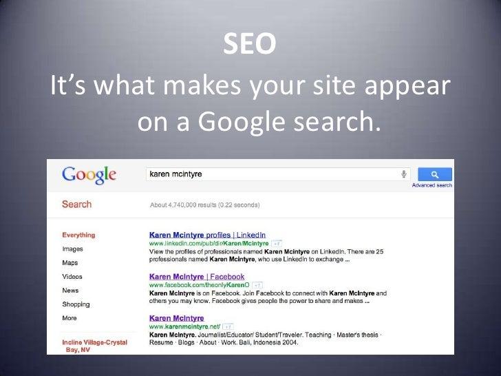SEO - Search Engine Optimization slideshare - 웹