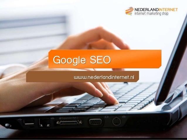 Google SEO www.nederlandinternet.nl