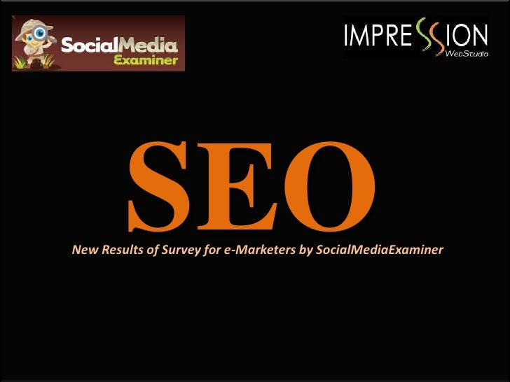 SEONew Results of Survey for e-Marketers by SocialMediaExaminer
