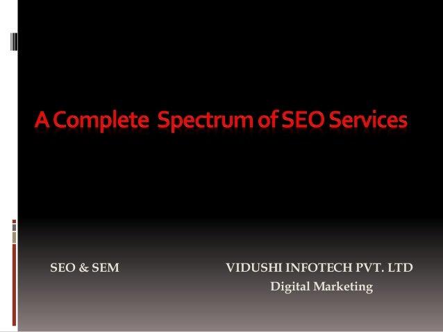 SEO & SEM VIDUSHI INFOTECH PVT. LTD Digital Marketing