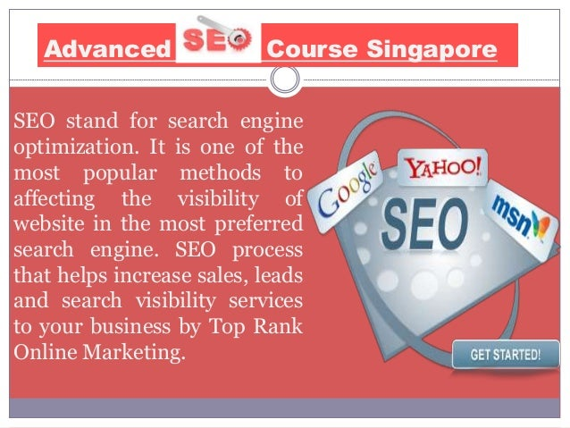 Advanced SEO Classes Singapore - 웹
