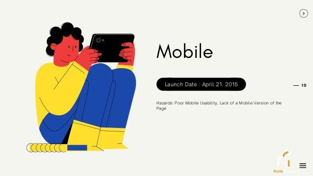 10 Mobile Hazards: Poor Mobile Usability, Lack of a Mobile Version of the Page Launch Date : April 21. 2015