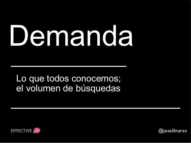 OfertaNúmero de contenidos respecto a ciertademanda                                 @josellinares