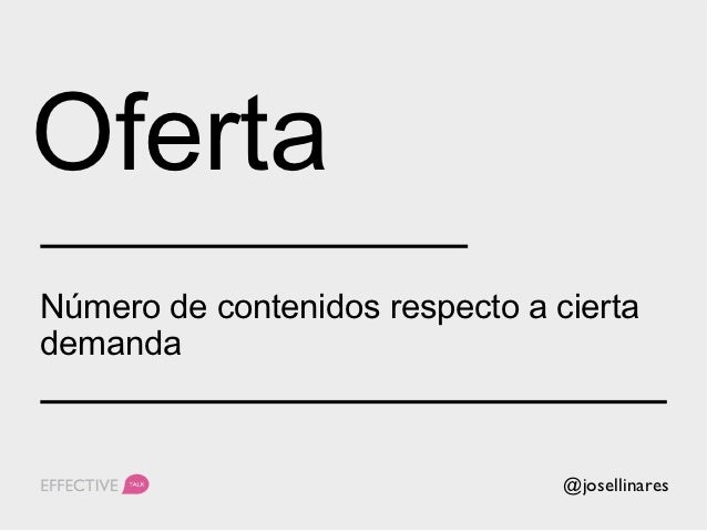 Oferta         @josellinares