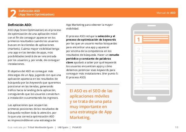 Manual de ASO  Definición ASO  (App Store Optimization)  Definición ASO:  ASO (App Store Optimization) es el proceso  de o...