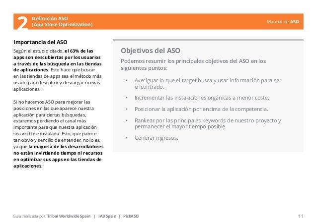 Manual de ASO  Definición ASO  2 (App Store Optimization)  Importancia del ASO  Según el estudio citado, el 63% de las  ap...