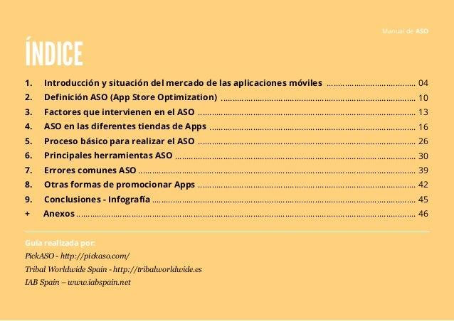 ÍNDICE  1. Introducción y situación del mercado de las aplicaciones móviles  2. Definición ASO (App Store Optimization)  3...