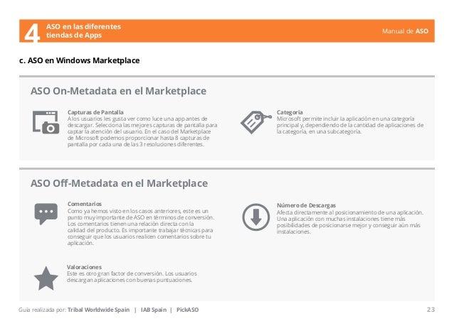Manual de ASO  ASO en las diferentes  4 tiendas de Apps  c. ASO en Windows Marketplace  Capturas de Pantalla  A los usuari...