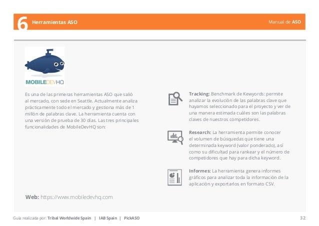 Manual de ASO  Es una de las primeras herramientas ASO que salió  al mercado, con sede en Seattle. Actualmente analiza  pr...