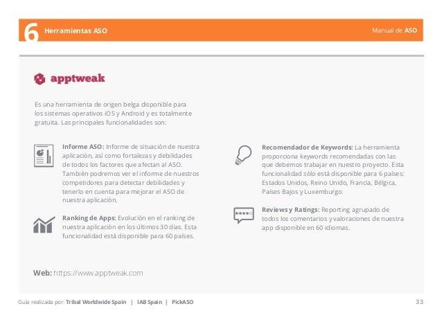 Manual de ASO  Es una herramienta de origen belga disponible para  los sistemas operativos iOS y Android y es totalmente  ...
