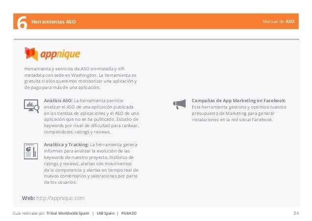 Manual de ASO  Herramienta y servicios de ASO on-metada y off-metadata  con sede en Washington. La herramienta es  gratuit...