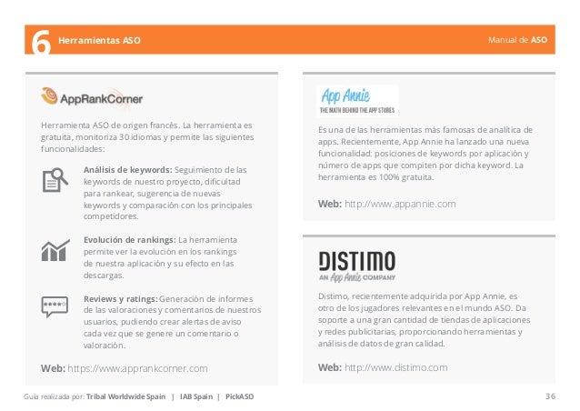 Manual de ASO  Herramienta ASO de origen francés. La herramienta es  gratuita, monitoriza 30 idiomas y permite las siguien...