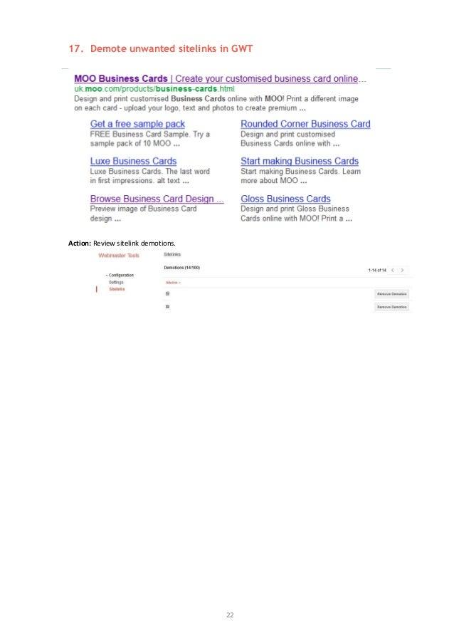 Example SEO audit