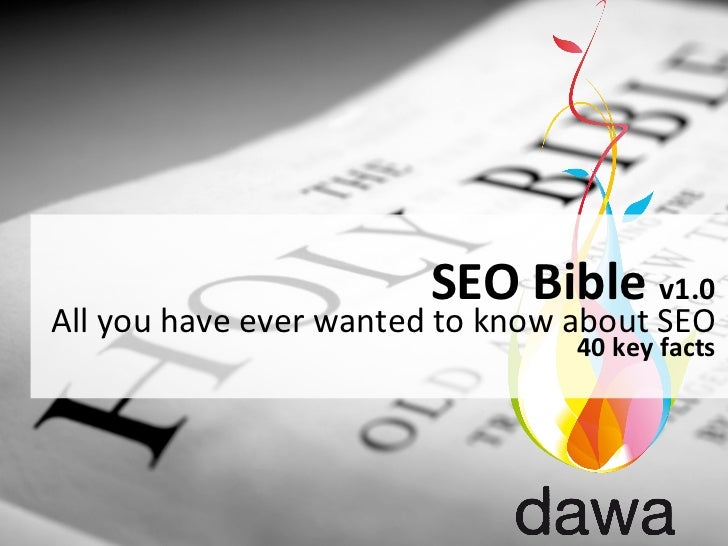 SEO Bible v1.0 All you have ever wanted to know about SEO                                         ...
