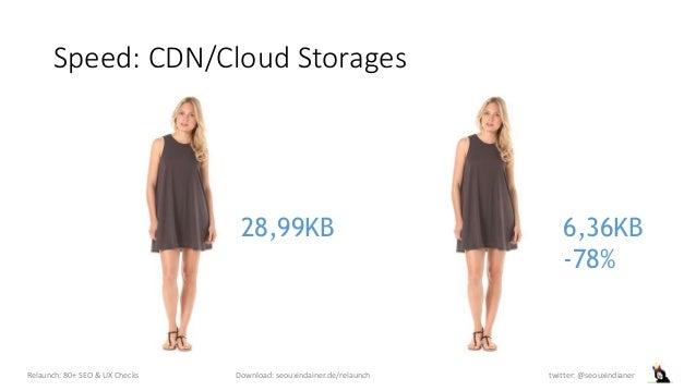 Speed: CDN/Cloud Storages Relaunch: 80+ SEO & UX Checks Download: seouxindainer.de/relaunch twitter: @seouxindianer 6,36KB...