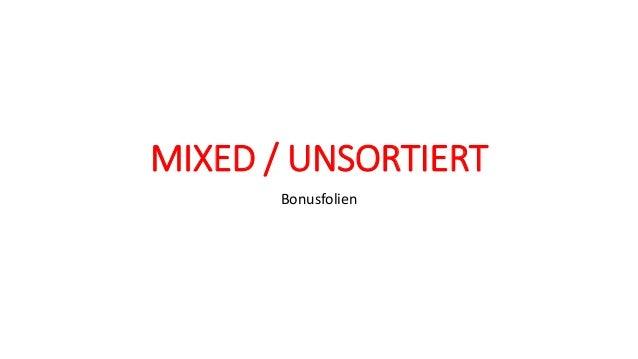 MIXED / UNSORTIERT Bonusfolien