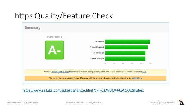 https Quality/Feature Check Relaunch: 80+ SEO & UX Checks Download: seouxindainer.de/relaunch twitter: @seouxindianer http...