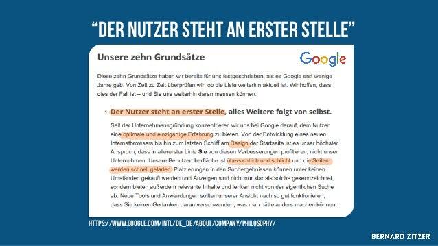 "https://www.google.com/intl/de_de/about/company/philosophy/ ""Der nutzer steht an erster Stelle"""
